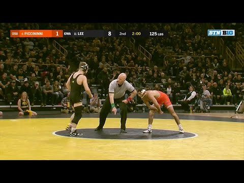 Big Ten Wrestling: 125 LBs - Oklahoma State's Nick Piccininni vs. Iowa's Spencer Lee