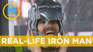 Download YouTuber @the Hacksmith shows off his Iron Man helmet, Captain America Shield & more   Your Morning Mp3 and Videos