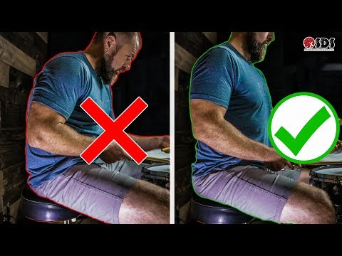 If You Sit Like This On The Drums, Get Help Fast
