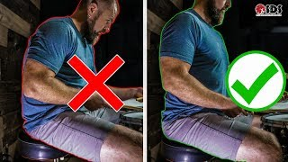 Drum Throne Posture, Preventing Back Pain, & Increasing Performance