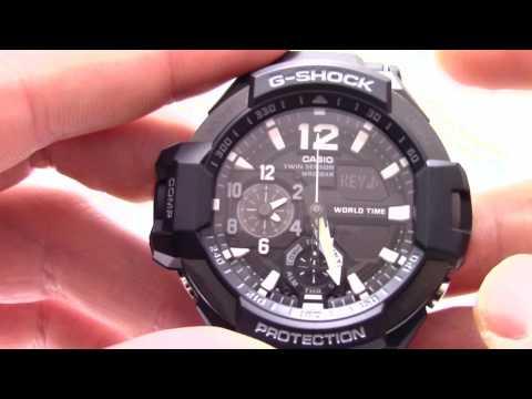 Часы Casio G-Shock GA-1100-1A [GA-1100-1AER] - Инструкция, как настроить от Presidentwatches.Ru