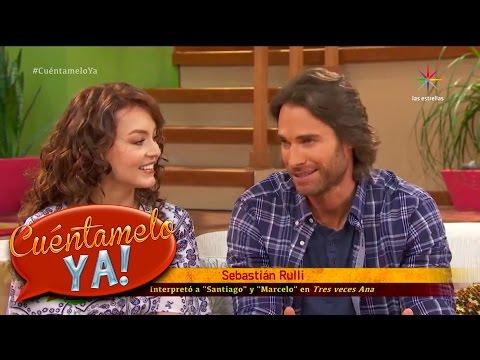 Angelique Boyer y Sebastián Rulli hablan del final de Tres veces Ana | Cuéntamelo YA