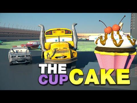 CUPCAKE the finest quality Motor Oil! Lightning McQueen, Jackson Storm, Cruz Ramirez have clean race