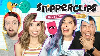 CUTTING FRIENDSHIPS IN HALF w/ Gloom - Snipperclips | Nintendo Switch