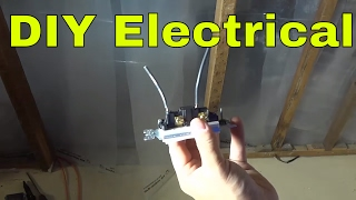 How To Remove Wiring Pushed Into A Light Switch-DIY Electrical