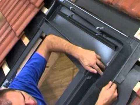 install a rooflite roof window 11 tile roof part five flashing youtube. Black Bedroom Furniture Sets. Home Design Ideas