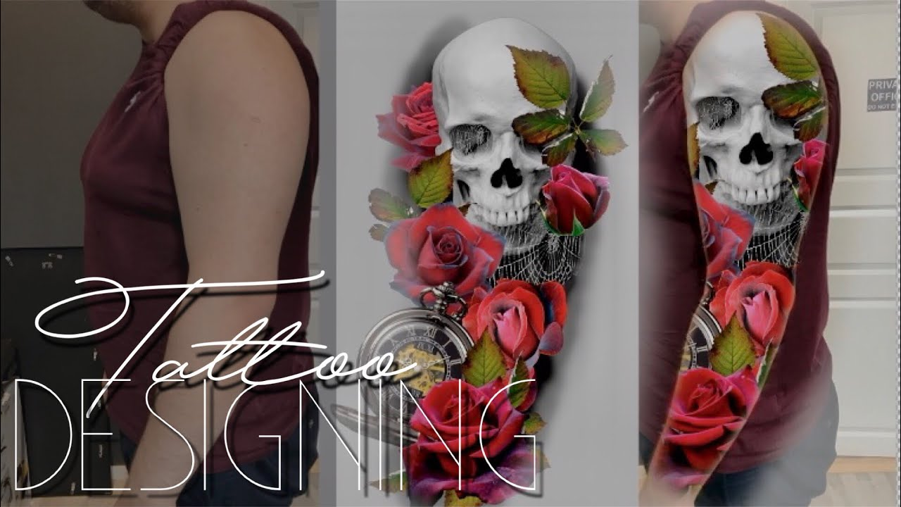 TATTOO SLEEVE STEP BY STEP - Designing a sleeve with Photoshop - YouTube