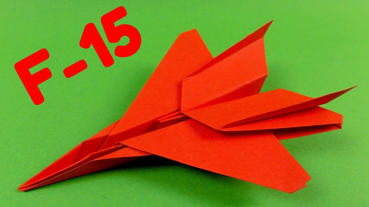 Download How to make an F15 Eagle Jet Fighter Paper Plane (Tadashi Mori)