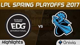 EDG vs NB Highlights Game 3 LPL Spring Playoffs 2017 Edward Gaming vs Newbee