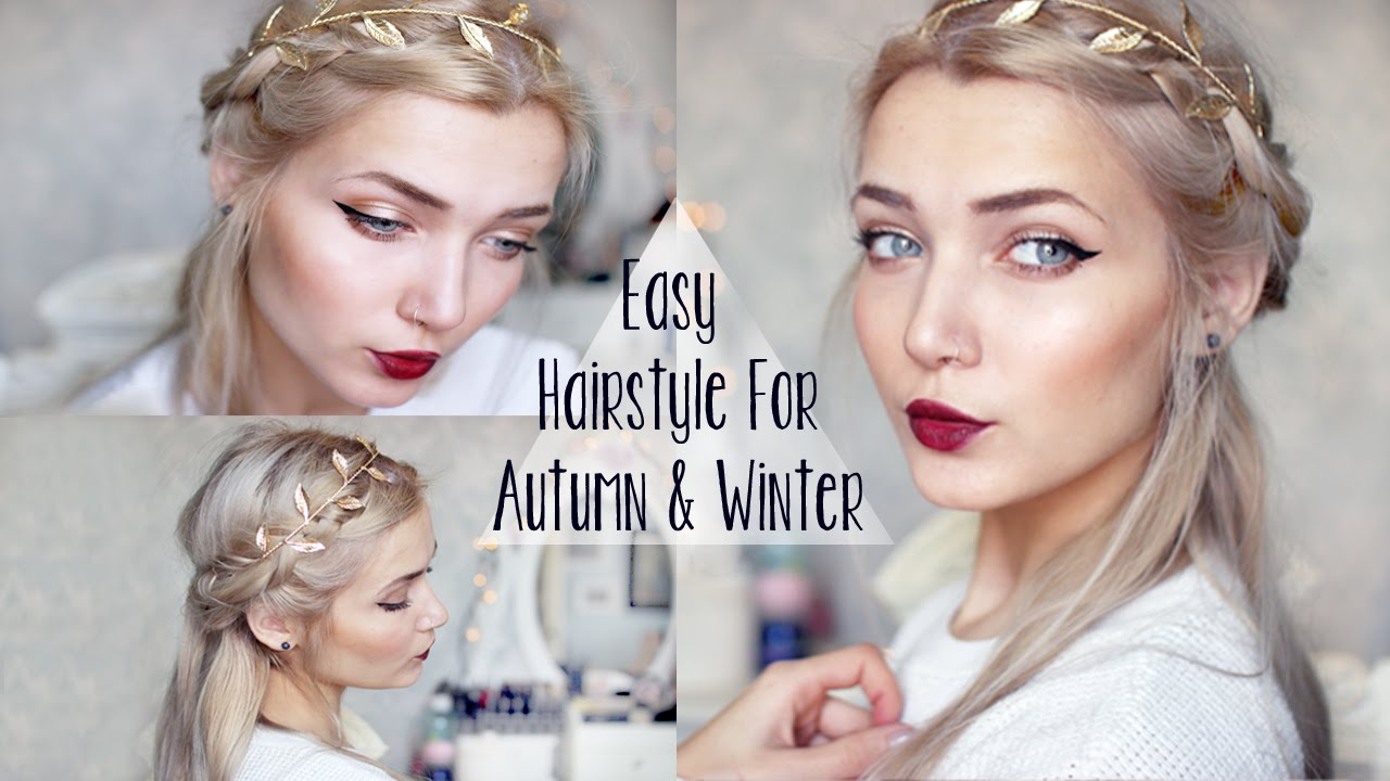 Easy Cute Winter Braid Hairstyle Youtube