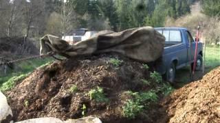 Salt Creek Farm dumping compost alternative   Save your back!