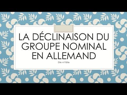La déclinaison du groupe nominal en allemand (Nominatif, Accusatif, Datif, Génitif)   die 4 Fälle
