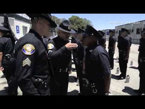Video #3 Long Beach Police Department Class 87 of Long Beach Police Academy as they go through a ins