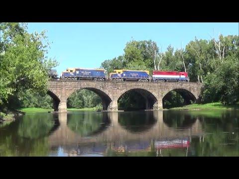 [HD] Late Summer on the Amtrak Springfield Line, Swan Song Deja Vu; 8/26/14