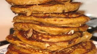 Marjorie's     Pumpkin Pancakes With Pecans, Butterscotch Chips, Chocolate Chips