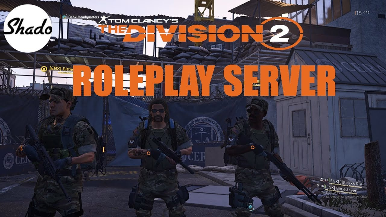 Tom Clancy's The Division 2 Roleplay Server!