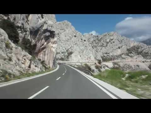 Driving in the Dalmatian region in Croatia