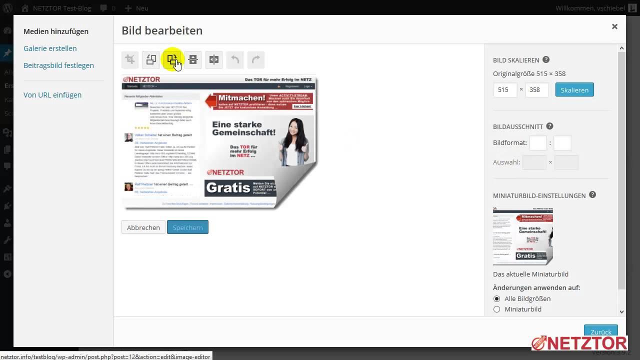 WordPress Artikel Bild Grafik in Artikel hochladen ...