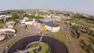 Les Mureaux station d'épuration (78) - Prise de vues aériennes avec mini-drone - Emmanuel JF RIche