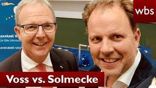 Artikel 13: Voss vs. Solmecke - Politiker entschuldigt sich bei