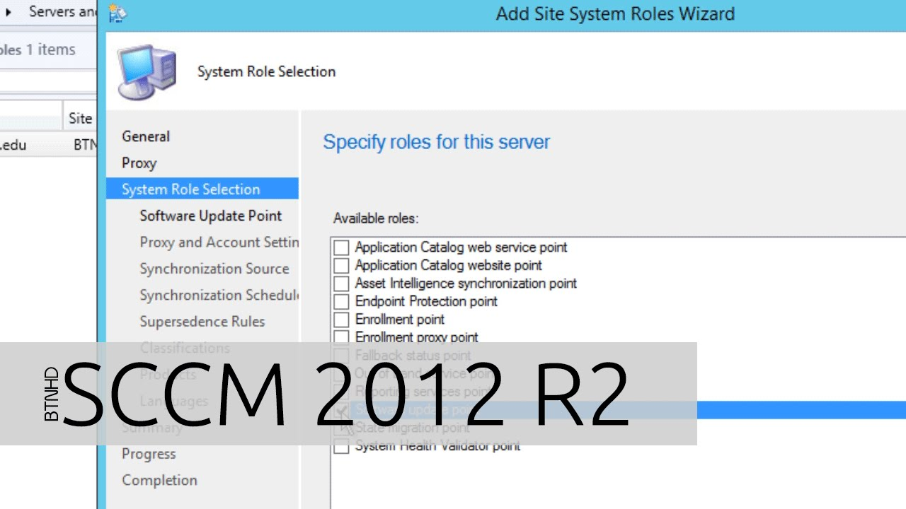 Adding Software Update Point on SCCM 2012 R2