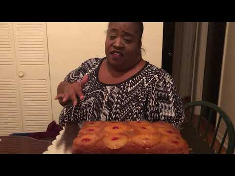 HOW TO MAKE PINEAPPLE UPSIDE DOWN CAKE PT 2