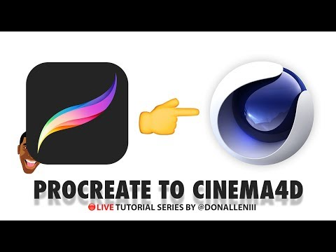 Procreate To Cinema4D - Introduction With Dragon