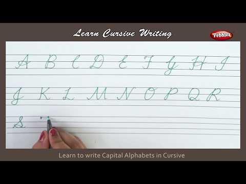 Cursive Writing   How To Write Capital Alphabets In Cursive   Alphabets Cursive Handwriting Letters