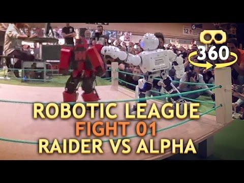 Battle of the Robots Match 01 Raider Vs Alpha #VR #360 360º 4K #360Video #VirtualReality