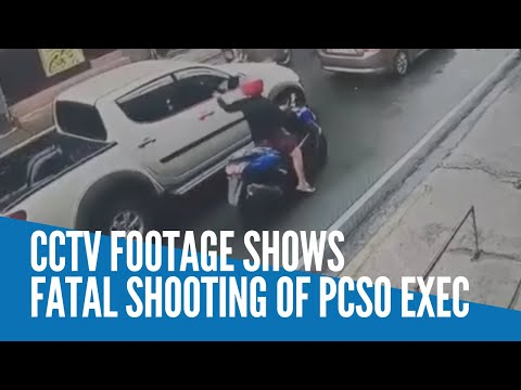 CCTV footage shows fatal shooting of PCSO exec