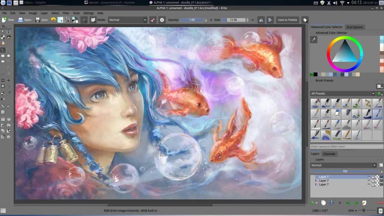 Aqua dream – FLOSS digital painting
