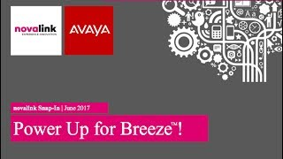 Novalink and Avaya Breeze (IOT & novaalert)