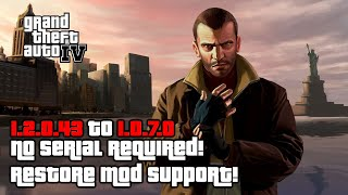 Gta Iv Complete Edition Downgrade! 1.2.0.43 To 1.0.7.0 + Save Game Install! No Serial Required!
