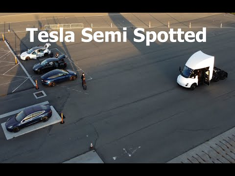 Tesla Semi spotted on test track in Fremont, CA - 3/5/21 (1/2)