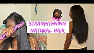 Straightening Natural Hair  From Curly 2 Straight: Nia Imani