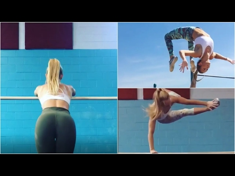 Beautiful Street Workout GIRL Goes CRAZY!! | Gina Marie