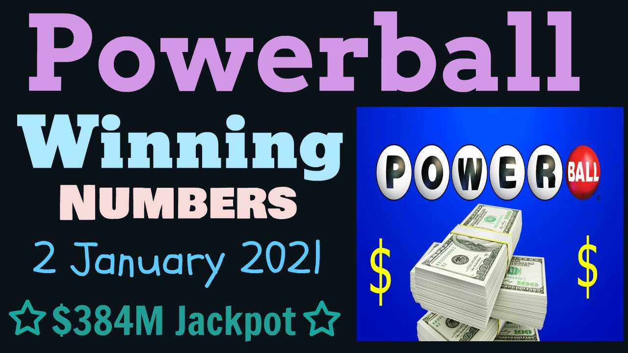 Today Powerball Winning Numbers Saturday 2 January 2020 Powerball Drawing Result Tonight 1 02 2021 Youtube