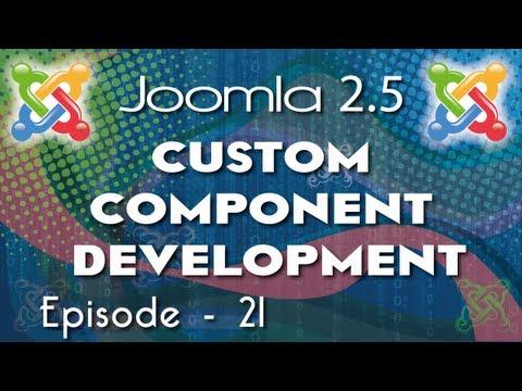 Joomla 2.5 Custom  Component Development - Ep 21  Create Open Chat Joomla 2.5 Component Part 9