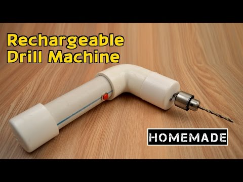 How to Make a Rechargeable Mini Drill Machine - Homemade