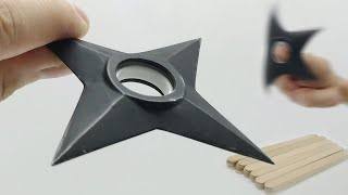 Make a Shuriken from Popsicle Stick #StayHome and DIY #WithMe