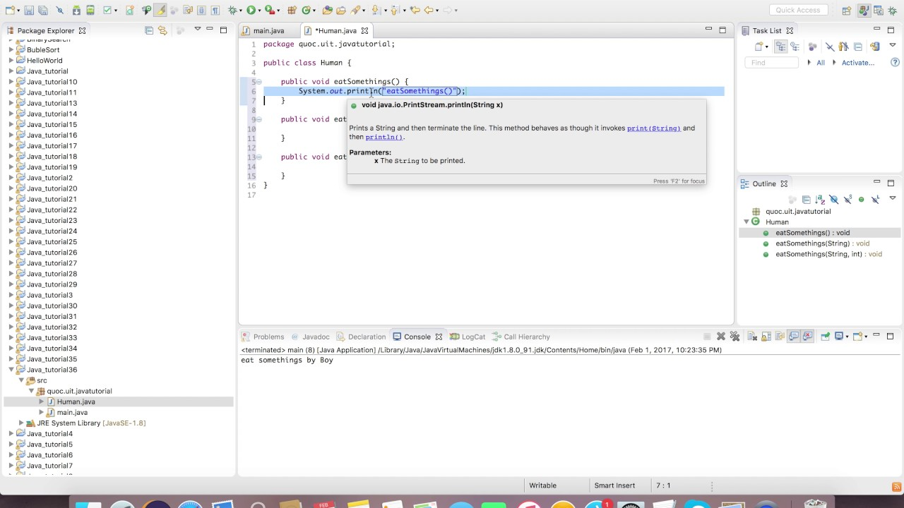 Java video tutorial images any tutorial examples video 36 overload in java youtube video 36 overload in java baditri images baditri Choice Image