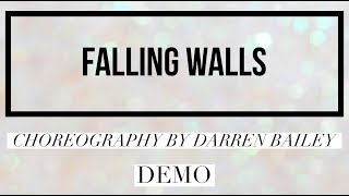 FALLING WALLS line dance, choreography by Darren Bailey, demo by Rachael McEnaney-White