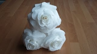 DIY EASY Paper Rose from coffee filters  |  Gör Det Själv: Pappers Ros av Kaffefilter