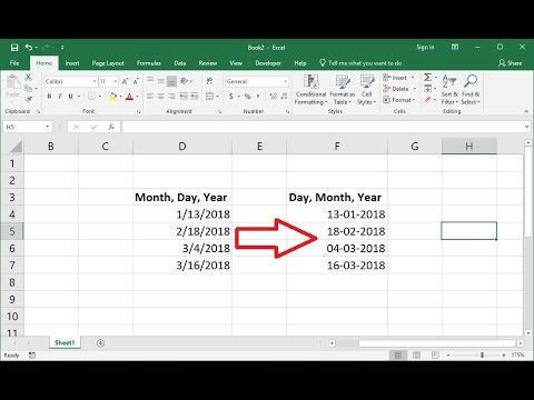 Date time format in excel 2020