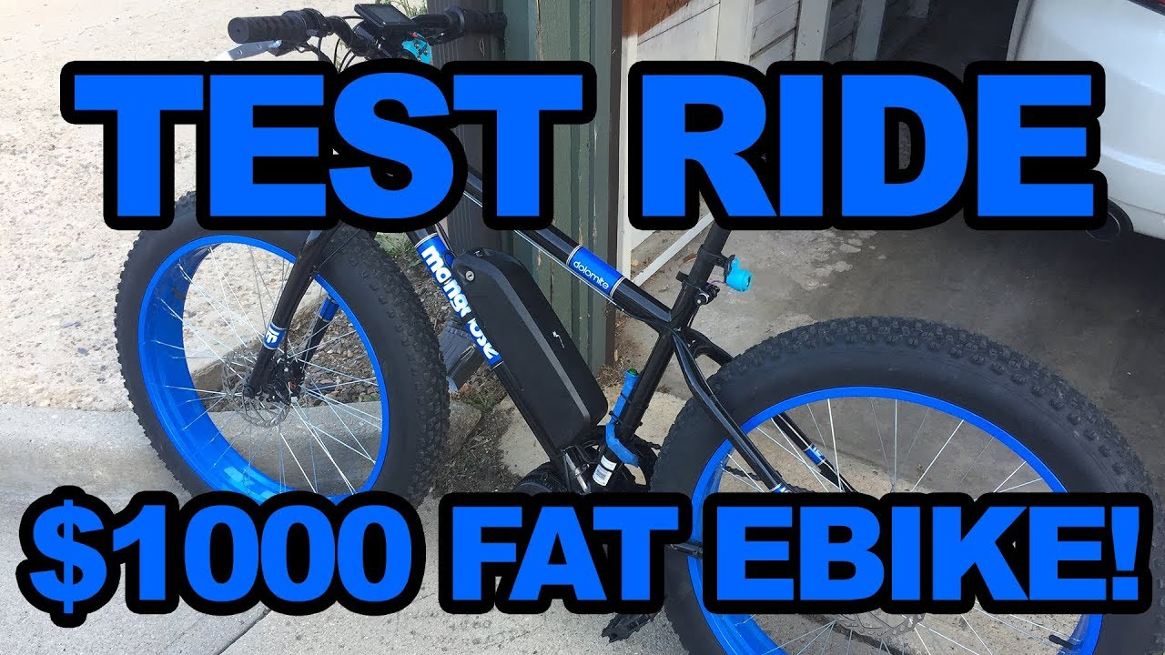 BBS02 Mongoose Dolomite eBike: Casual Test Ride