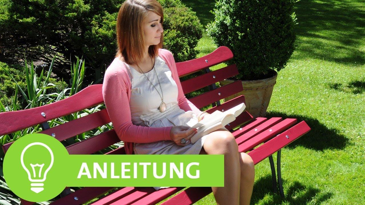 Alte Gartenbank renovieren, Schritt für Schritt - ADLER - YouTube