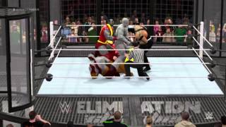WWE 2K16 Ironman vs Juggernaut vs Colossus vs Rhino vs Bane vs Kratos