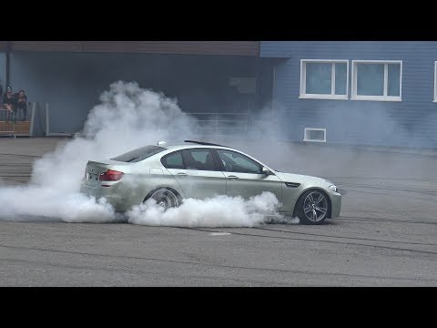 BURNOUTS \u0026 DRIFTS - 2x BMW M5 E39, 2x M5 F10, M5 E60, M3 E90 in Action!