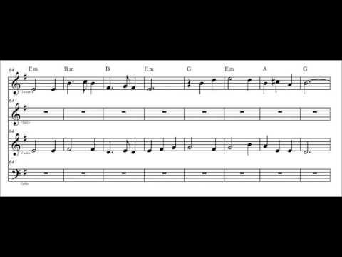 Música celta - Scarborough fair (con partitura)