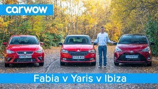 Skoda Fabia vs Toyota Yaris vs SEAT Ibiza 2019 - which is the best small car?